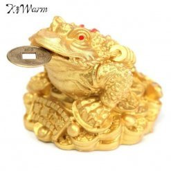 Three Legged Frog Toad on Bed of Gold Ingots