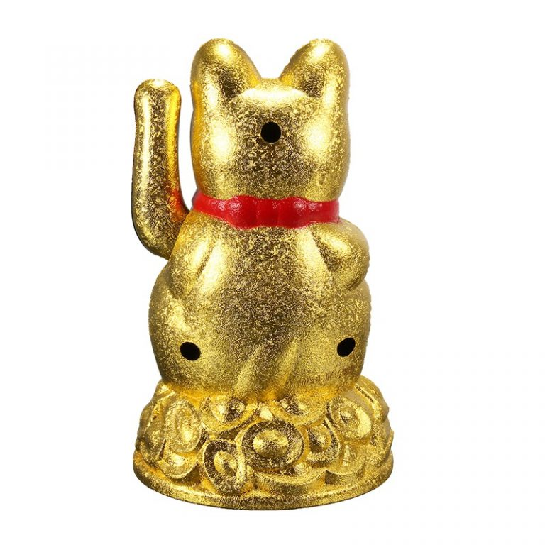 golden feng shui luck cat bakc
