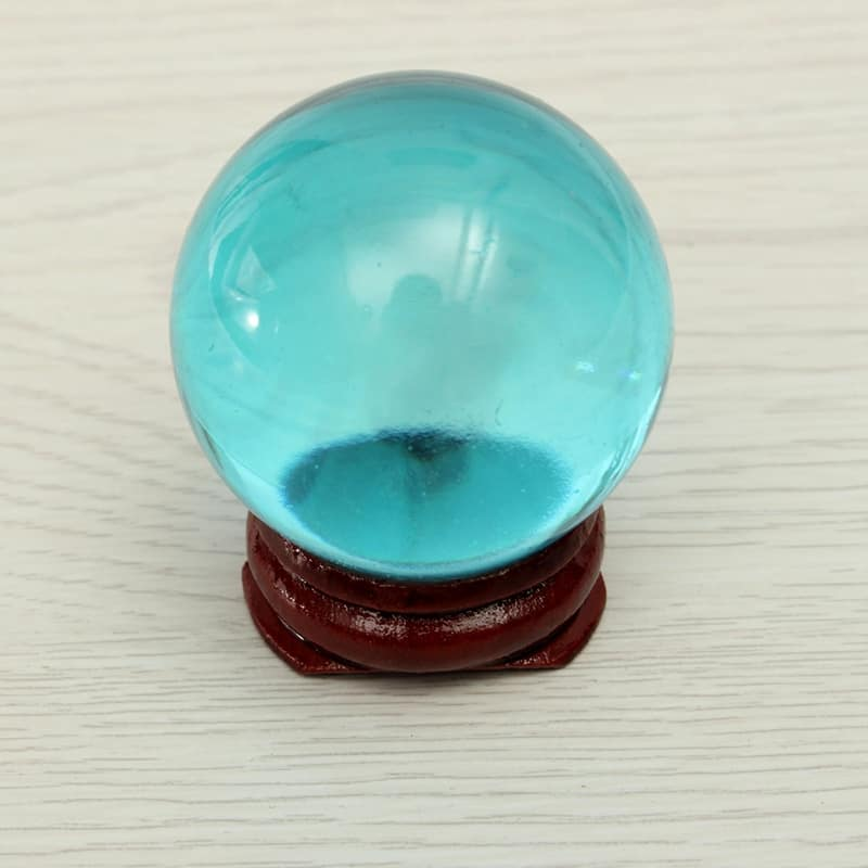 40mm Magic Blue Feng Shui Crystal Ball