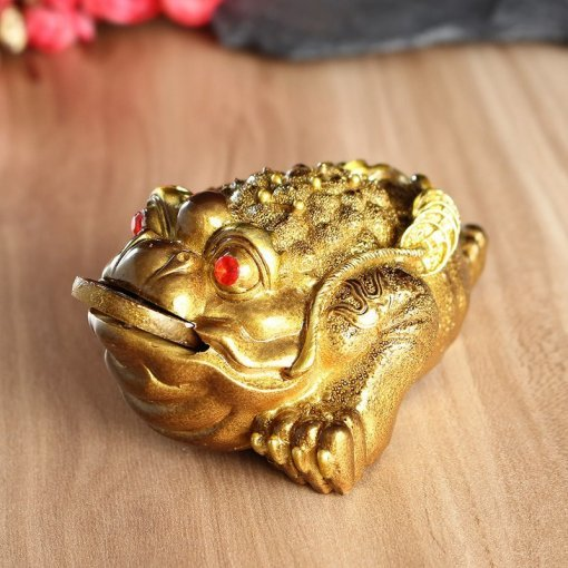 Golden Feng Shui Three Legged Money Frog