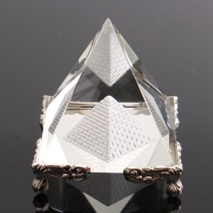 Feng Shui Healing Egyptian Clear Crystal Pyramid