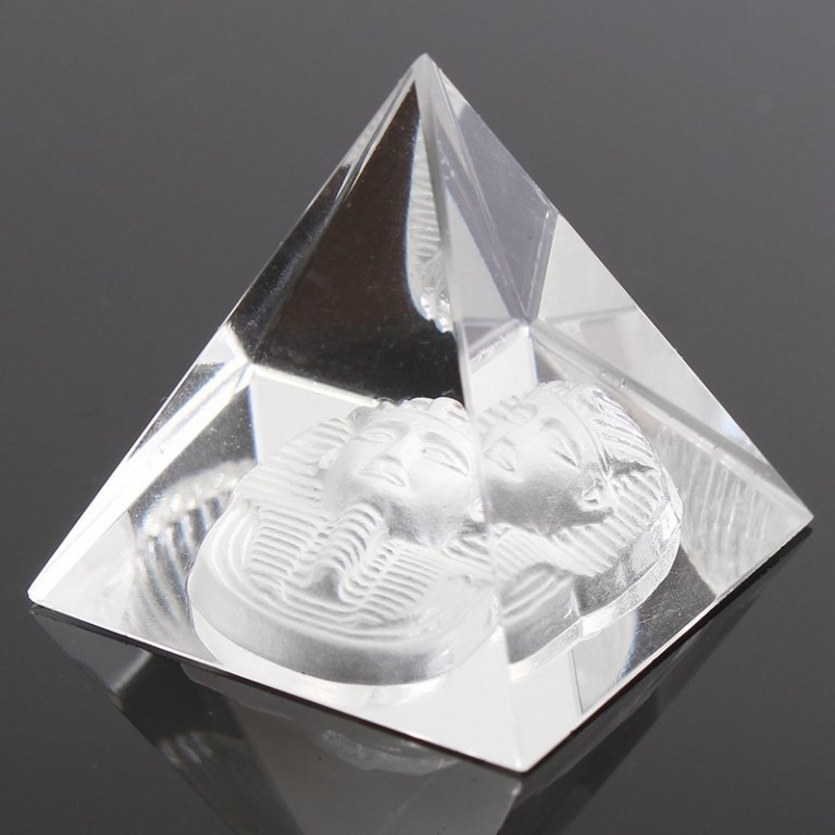 Clear Egyptian Crystal Pyramid