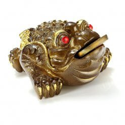Small Golden Three Legged Money Frog Feng Shui