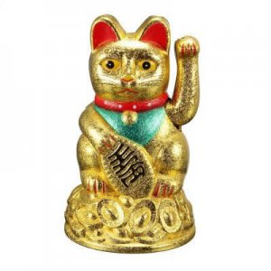 golden feng shui luck cat